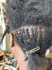 départ de microlock sur cheveux en transition